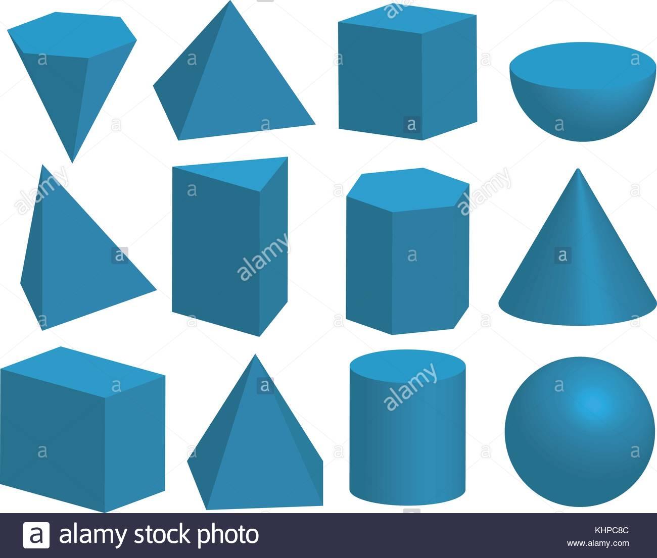 Basic 3d Geometric Shapes Geometric Solids Pyramid