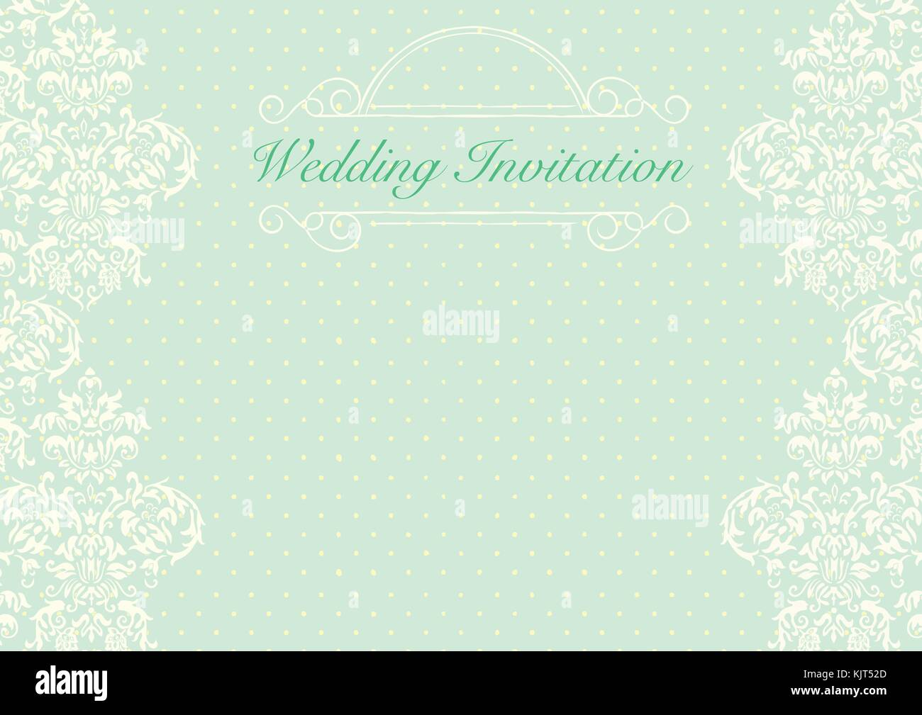 https www alamy com stock image the green wedding invitation card background template with yellow 166487957 html