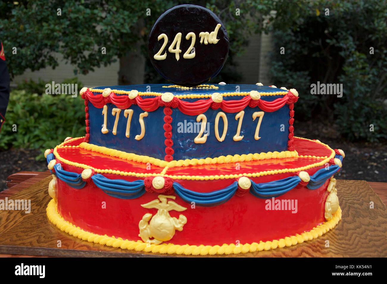 A Cake Is Displayed At A Marine Corps Birthday Ceremony At The Pentagon Arlington Va Nov 9 2017 The Ceremony Was In Honor Of The Corps 242nd Birthday U S Marine Corps Photo