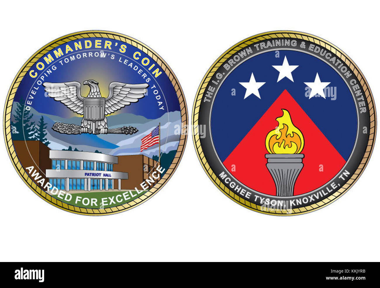 Front And Back View Of The New Commander S Coin For The Training And Stock Photo
