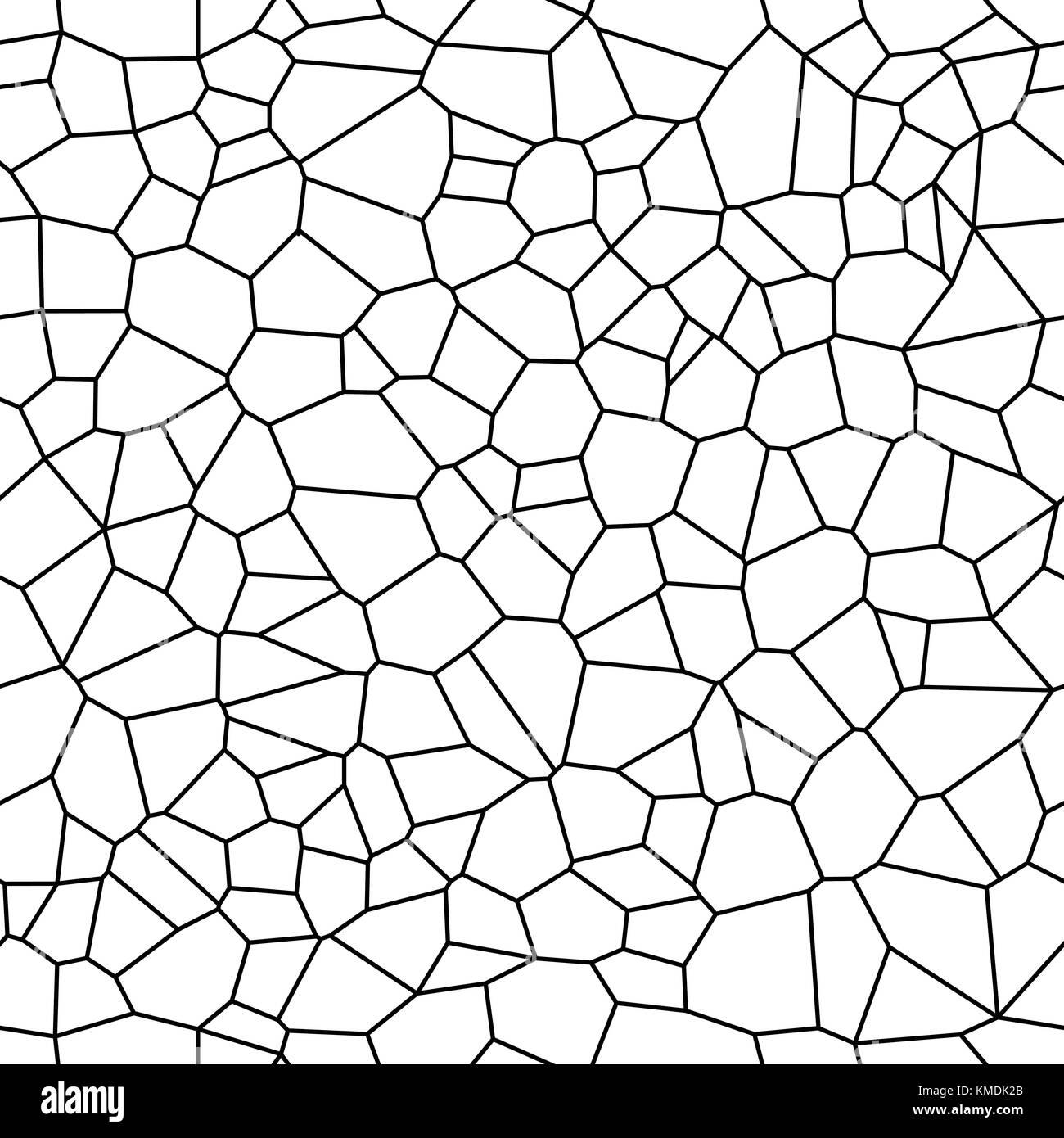 Seamless Vector Background From Cells Irregular Mosaic
