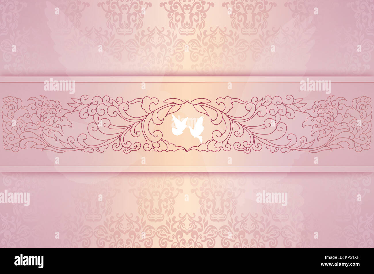 https www alamy com stock image template of wedding invitation cardelegant floral background with 168527033 html