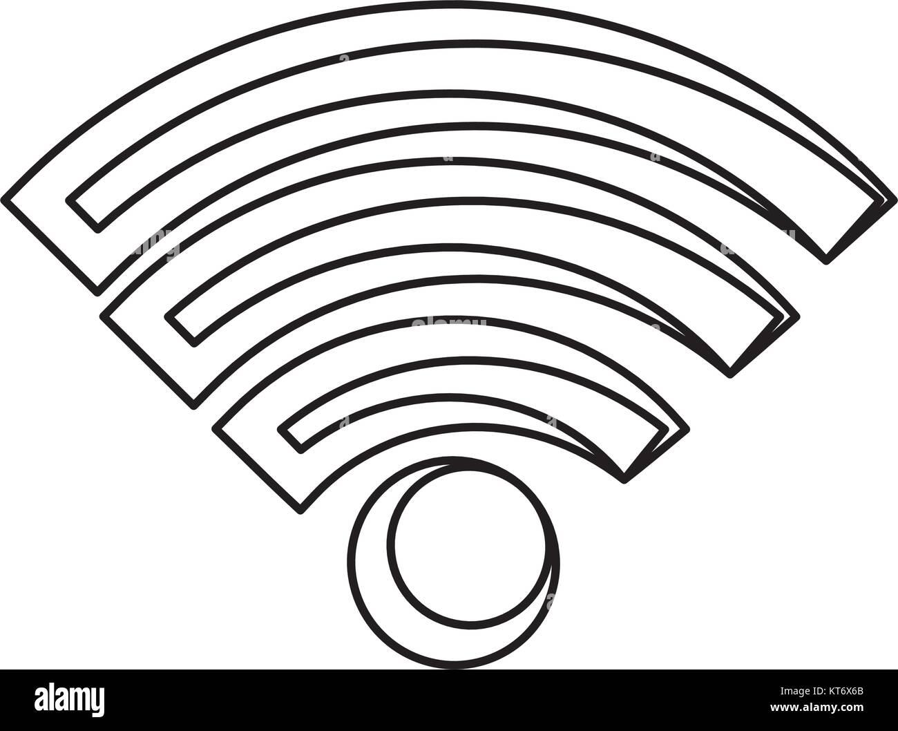 Wifi zone symbol stock image