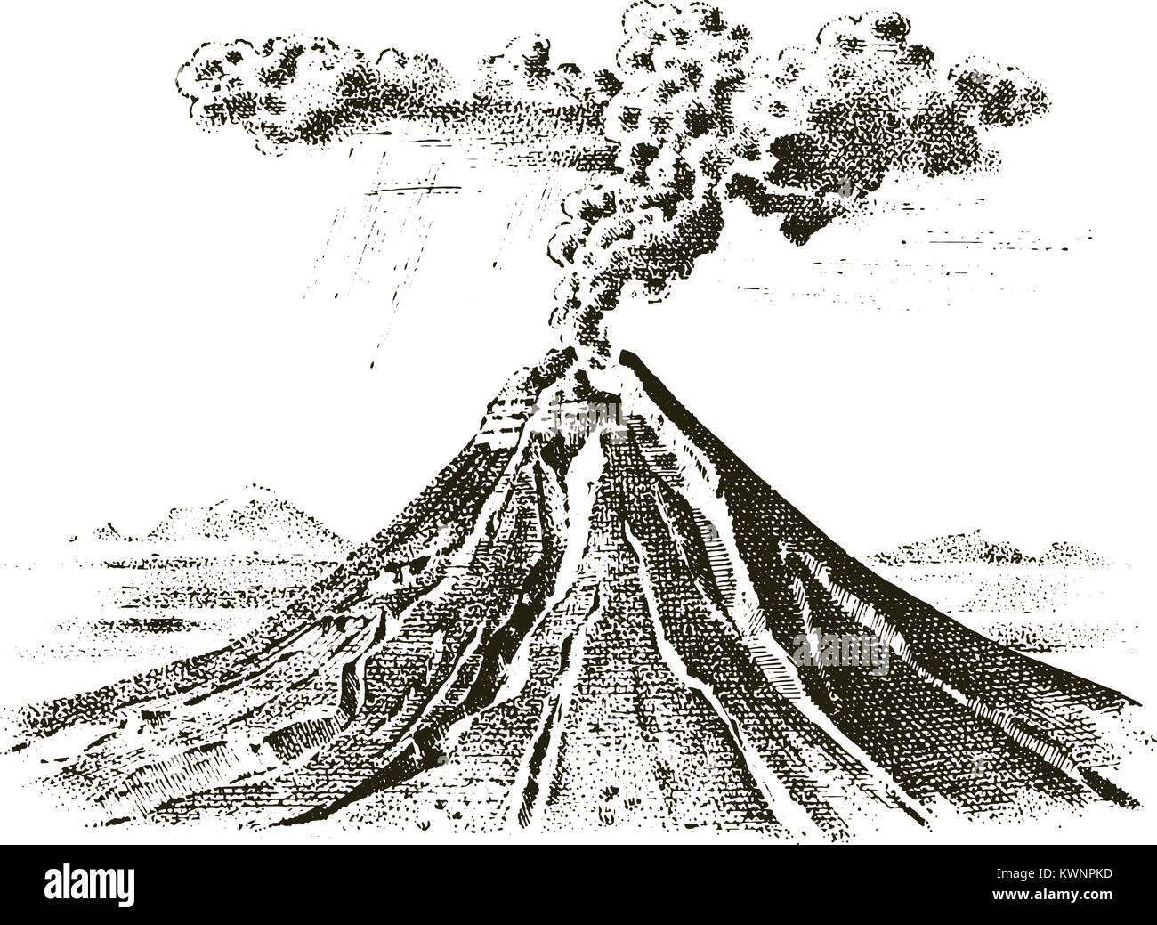 Volcano Eruption Cut Out Stock Images Amp Pictures