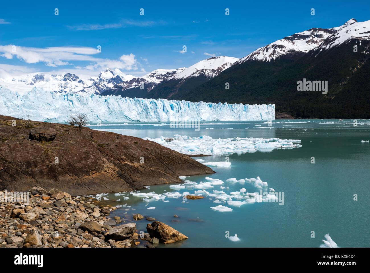 view of the perito moreno glacier los glaciares national park near el calafate santa cruz province argentina