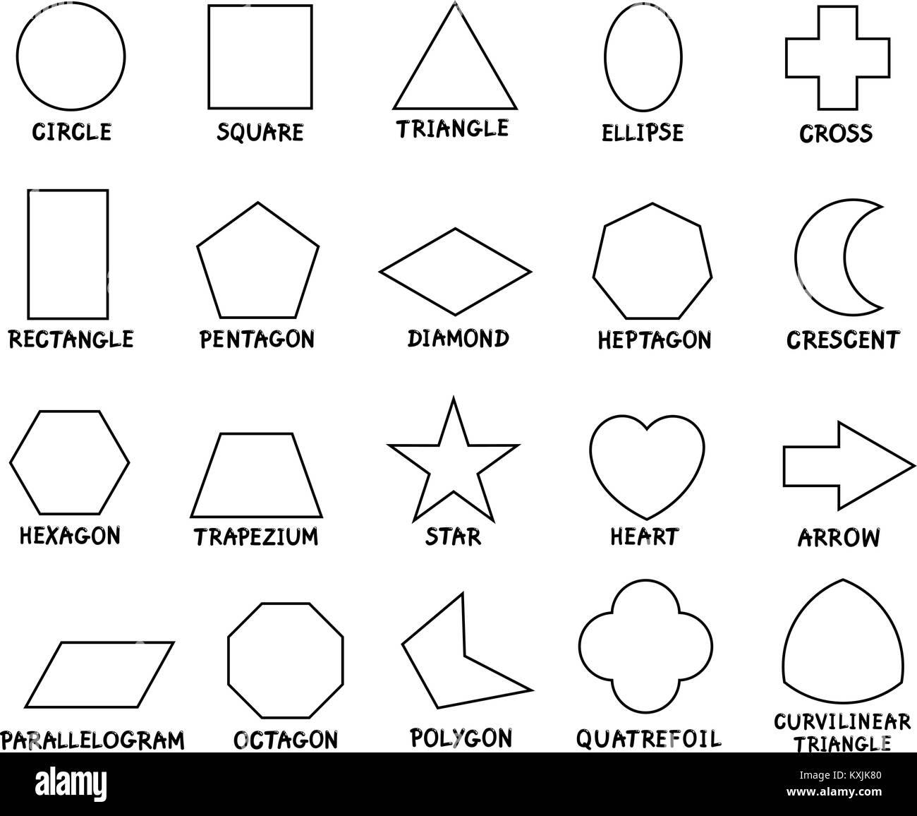 Crescent Shape Worksheet For Preschool