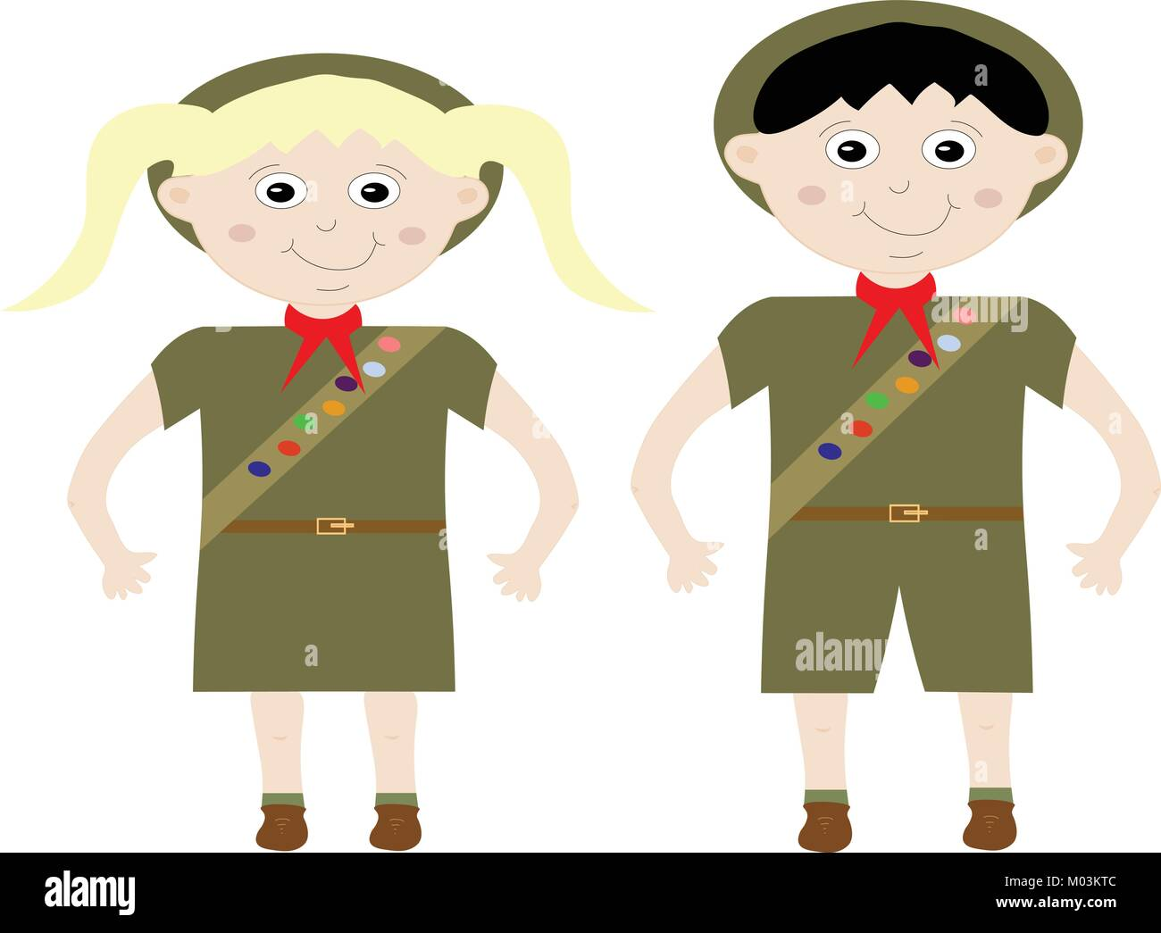 Girl Scout Uniform Stock Photos Amp Girl Scout Uniform Stock