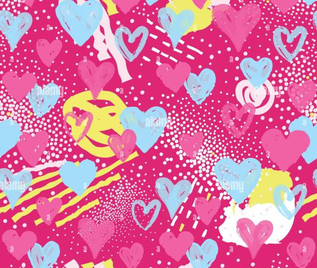 Love Heart Seamless Pattern Abstract Stylish Background With Hearts In S Style Holiday Ornamental Wallpaper