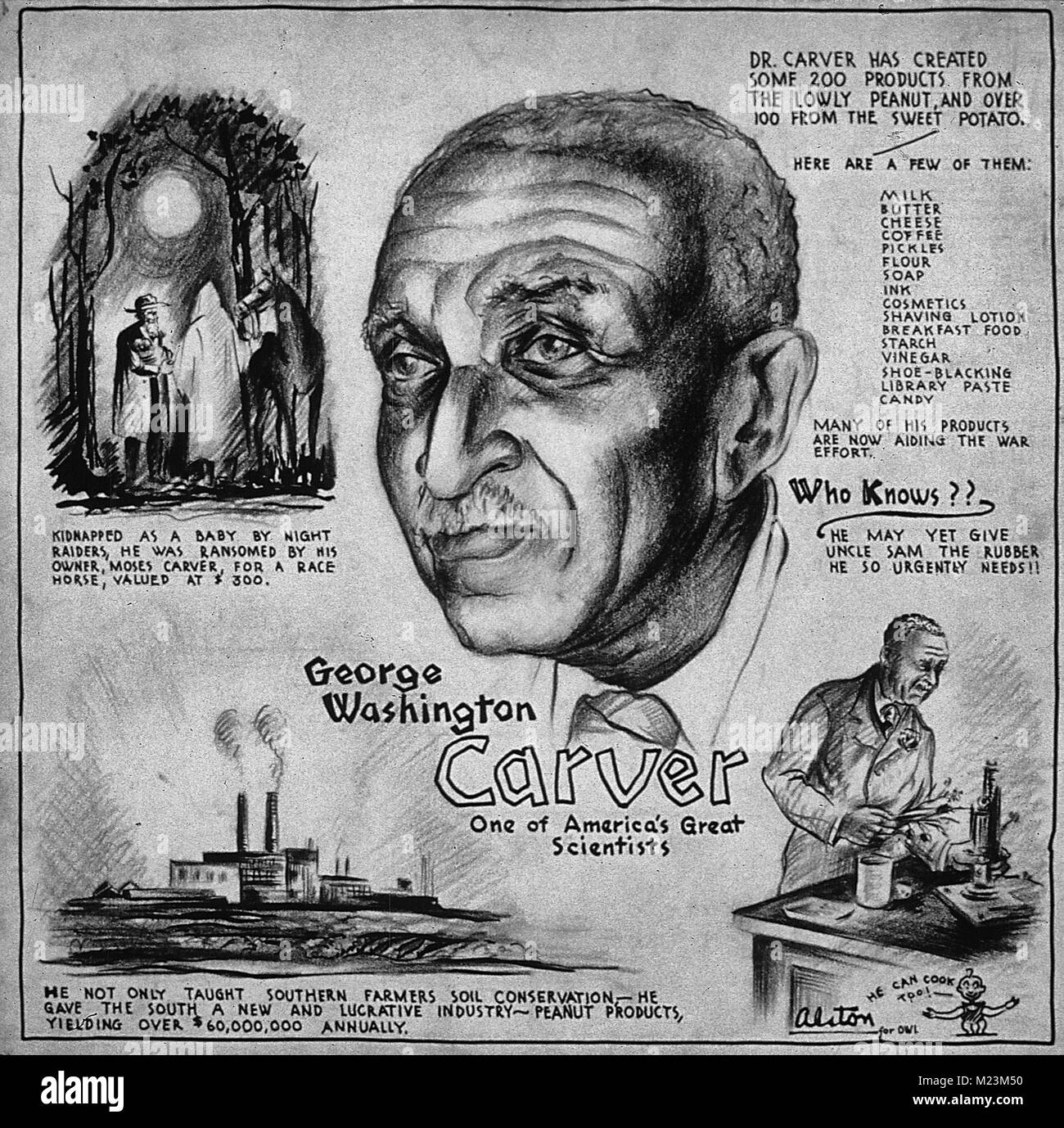 https www alamy com stock photo george washington carver one of americas greatest scientists poster 173414668 html