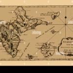 French West Indies Vintage Map 1927 Antilles Francaises Martinique Guadeloupe Nozztra Com