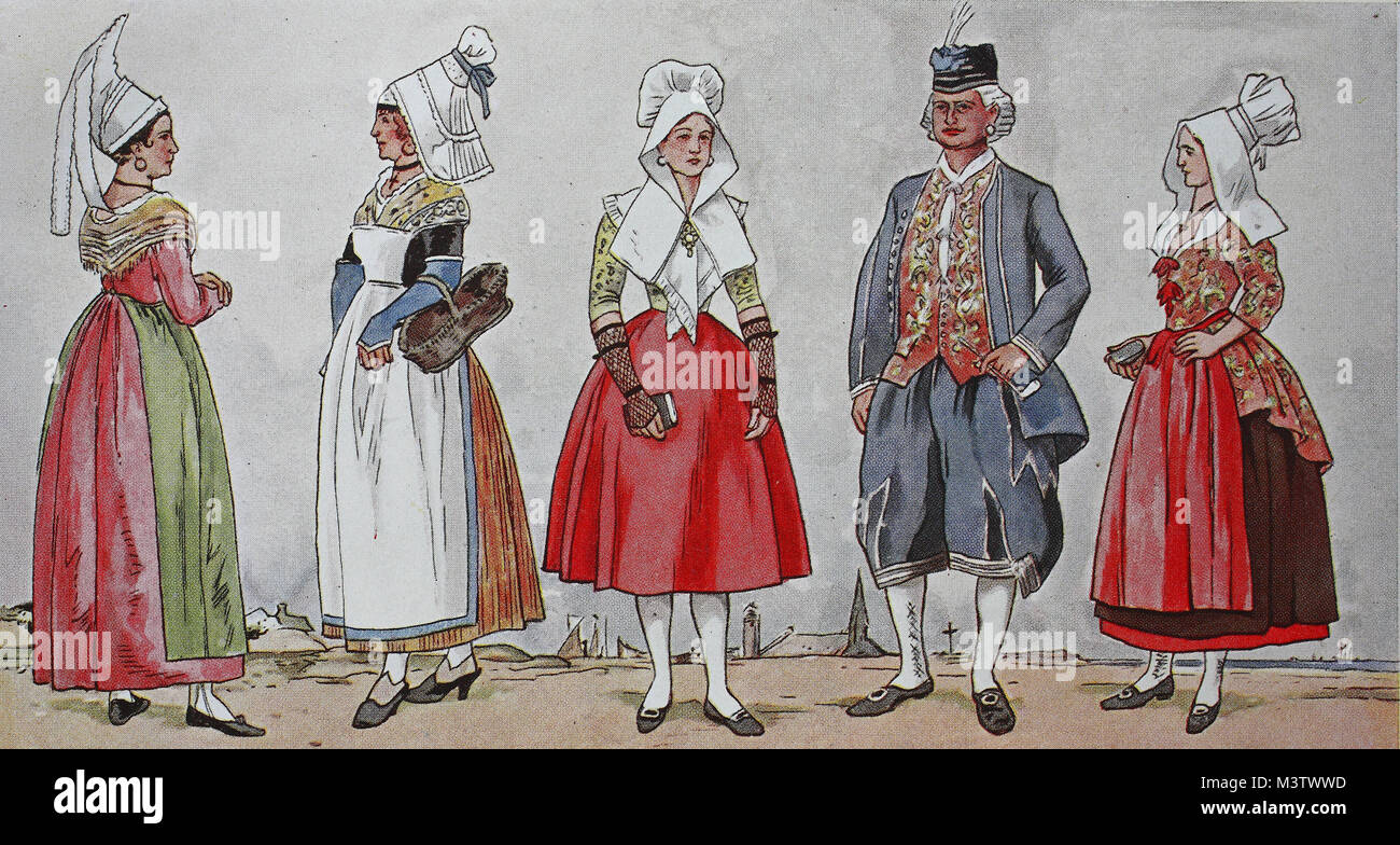 Fashion Costumes Clothes In France At The Beginning Of