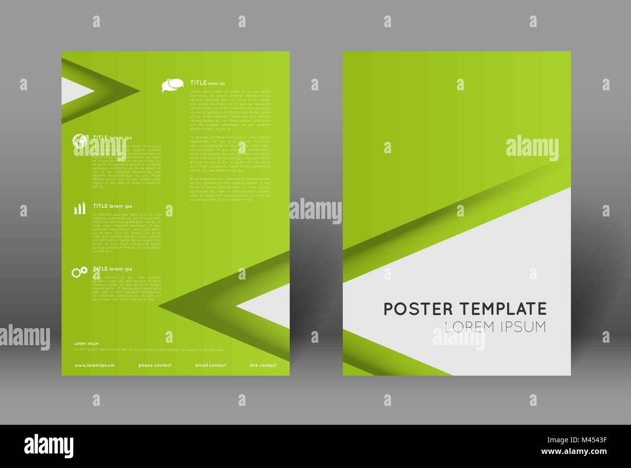 https www alamy com stock photo simple poster design template abstract green background with triangles 174675299 html