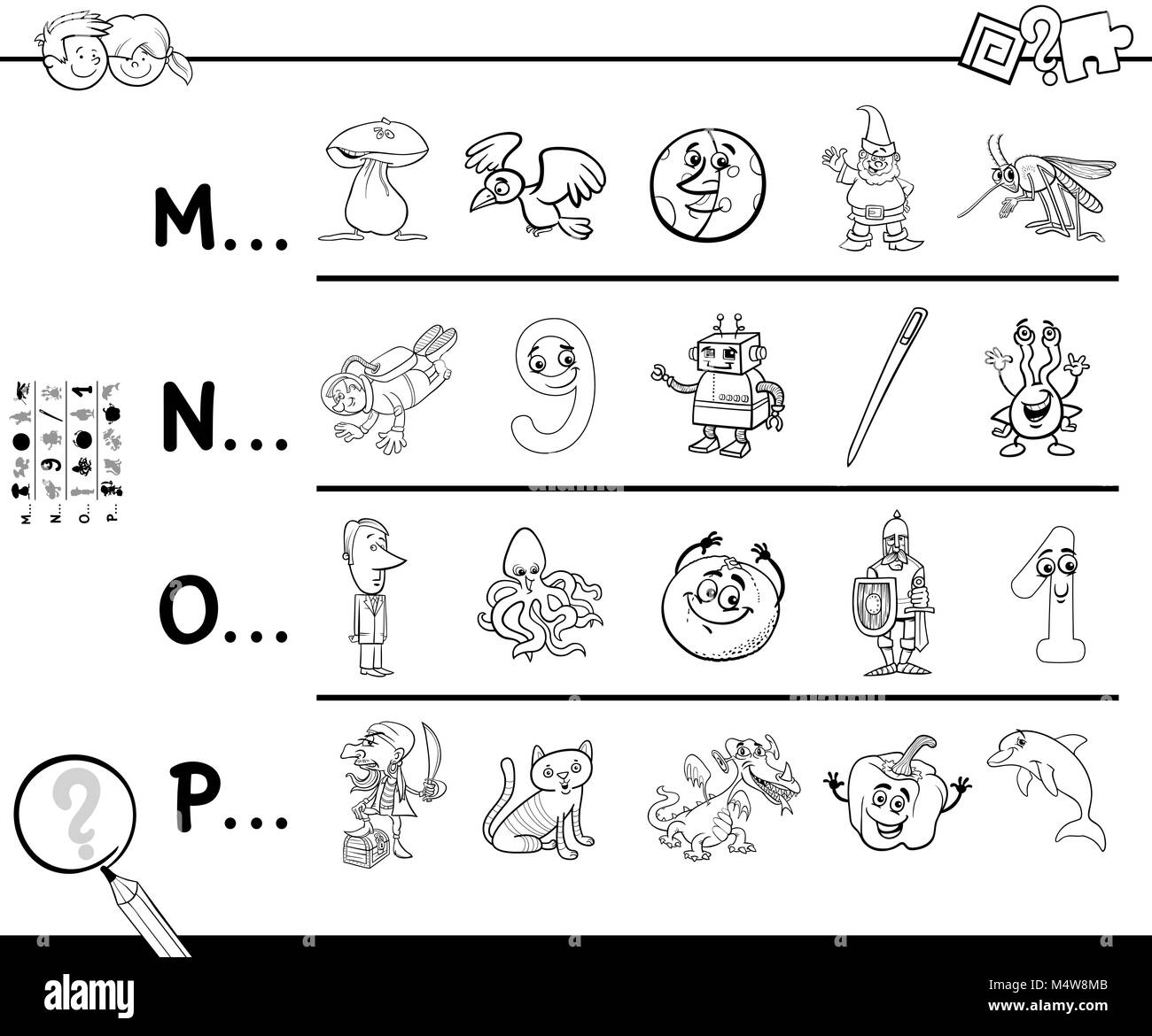 Cartoon Letter M Stock Photos Amp Cartoon Letter M Stock