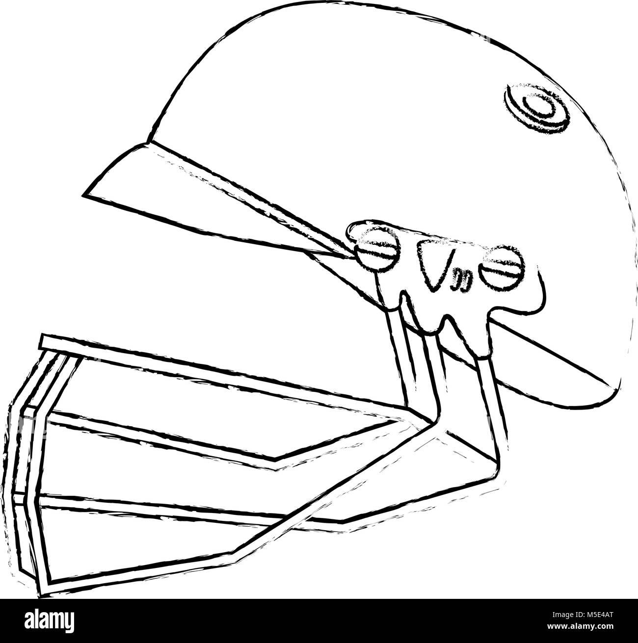 Helmet baseball equipment stock image