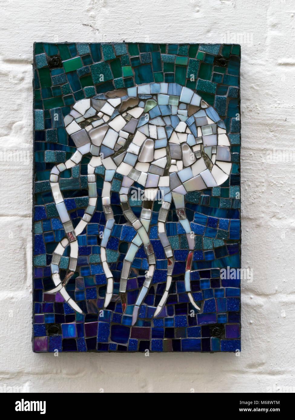 https www alamy com stock photo ceramic tile jellyfish mosaic on house wall 175987524 html