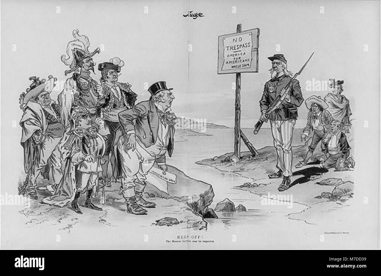Monroe Doctrine Political Cartoon Uncle Sam