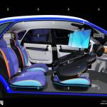 Electric Self Driving Suv Car Interior Design Front Seats Are Stock Photo Alamy