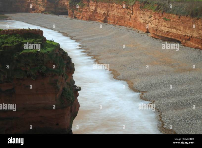 Jurassic Cost Stock Photos   Jurassic Cost Stock Images   Alamy Pebble beach in Ladram Bay near Sidmouth  Devon   Stock Image