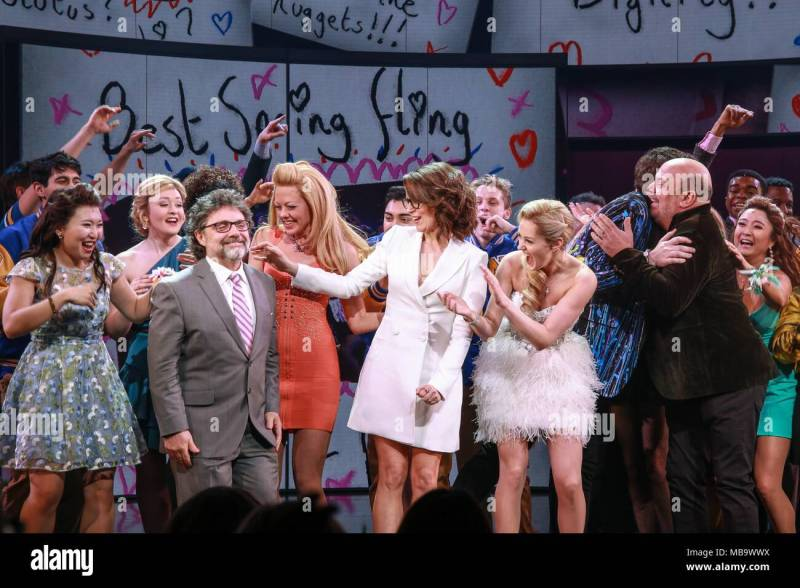 Cast In Attendance For Mean Girls On Broadway Opening Night Curtain Call And After Party August Wilson Theatre Tao Downtown New York