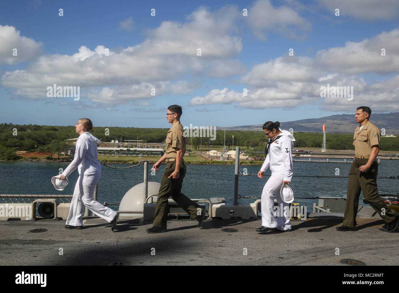 Pearl Harbor Naval Base Hi Marines And Sailors With The