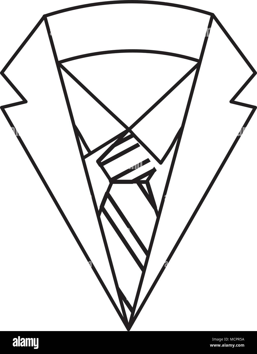 Elegant suit masculine icon stock image