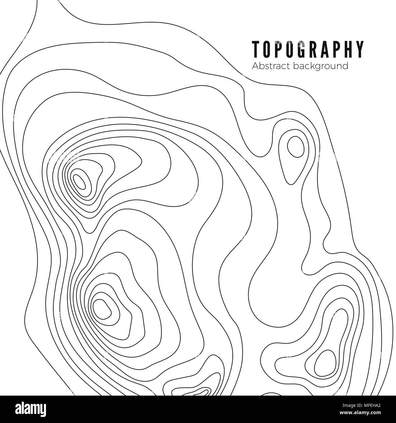 Topographic Map Contour Background Pattern Contour