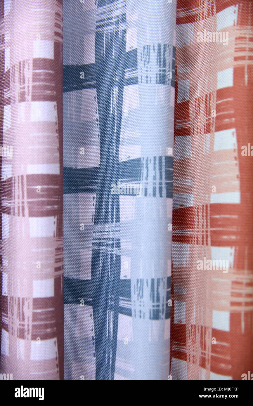 Colorful Fabric Is Used To Design Out All Kinds Of Clothes
