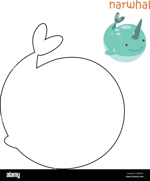 narwhal coloring page # 56