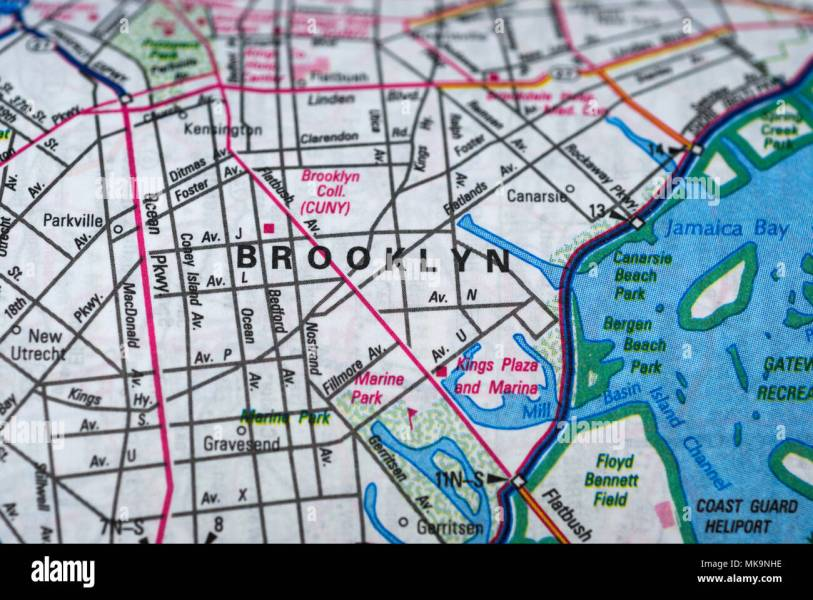 New York City Map Streets Stock Photos   New York City Map Streets     Brooklyn road map  New York   Stock Image