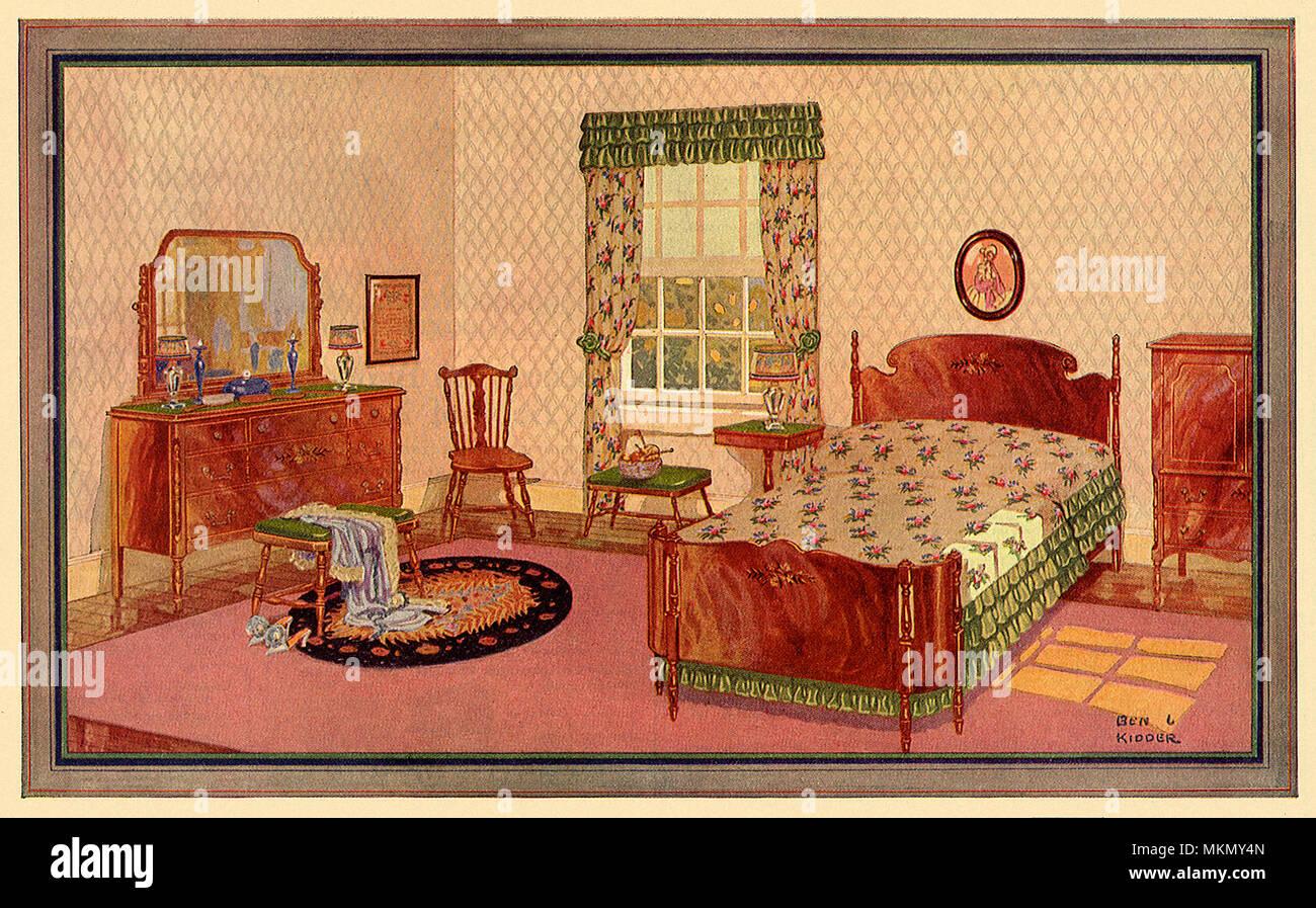 https www alamy com early american bedroom image184242485 html