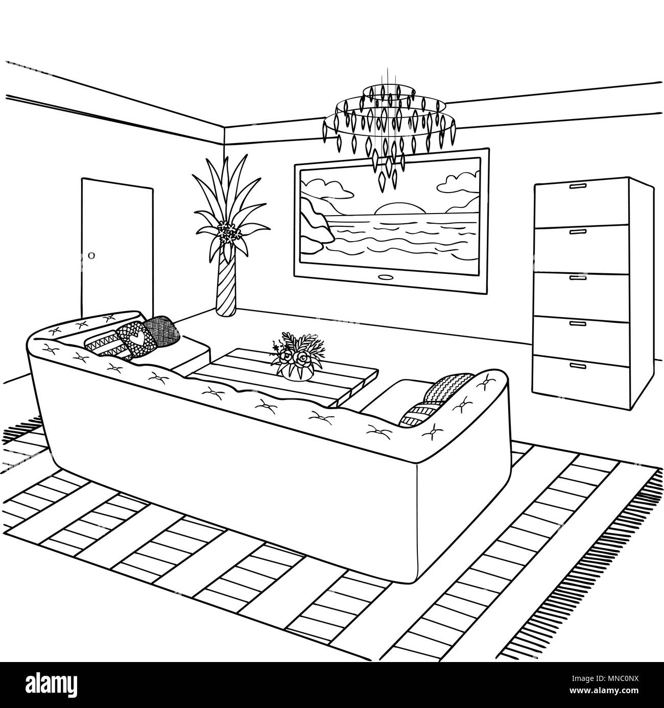Coloring Book Page For Adult And Kids Stock Photos
