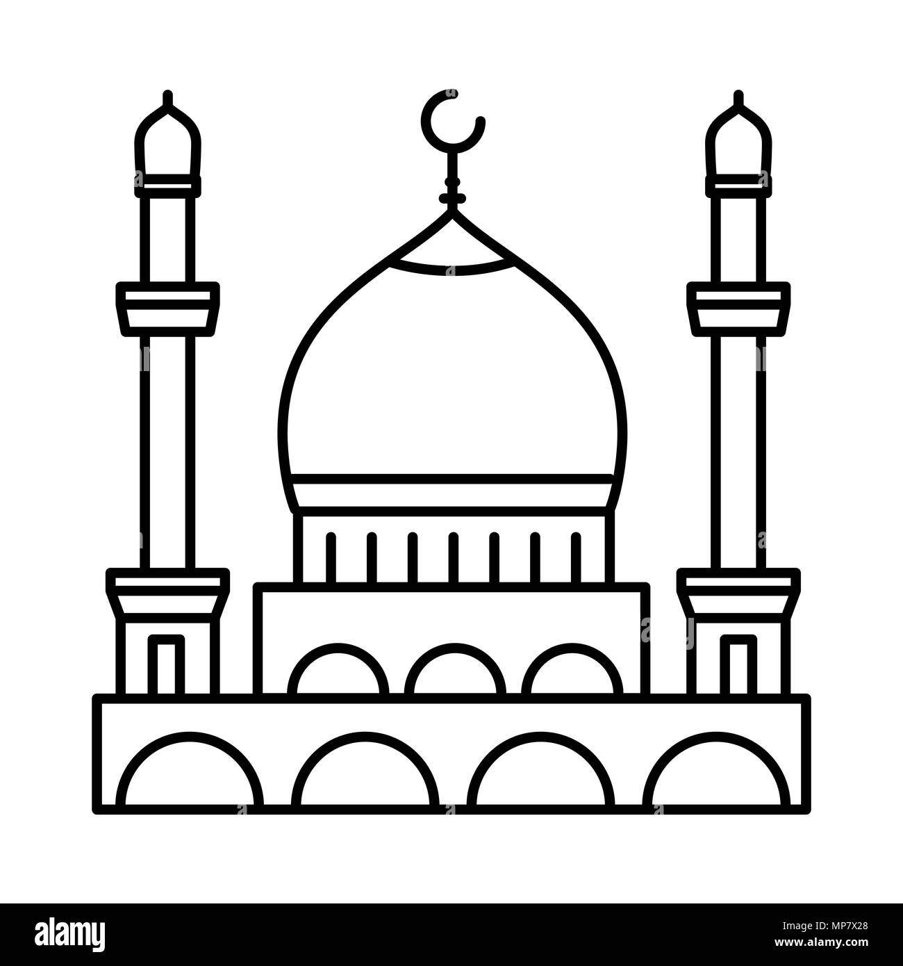 Mosque Line Icon Outline Vector Sign Linear Style