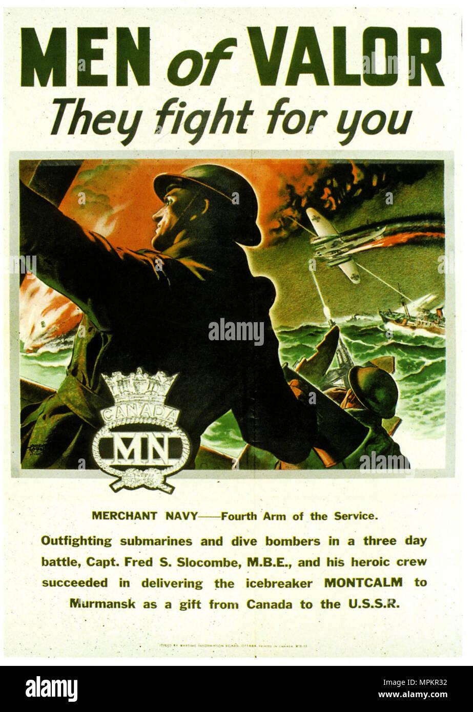 https www alamy com canadian wwii vintage propaganda poster making the murmansk run image186061318 html