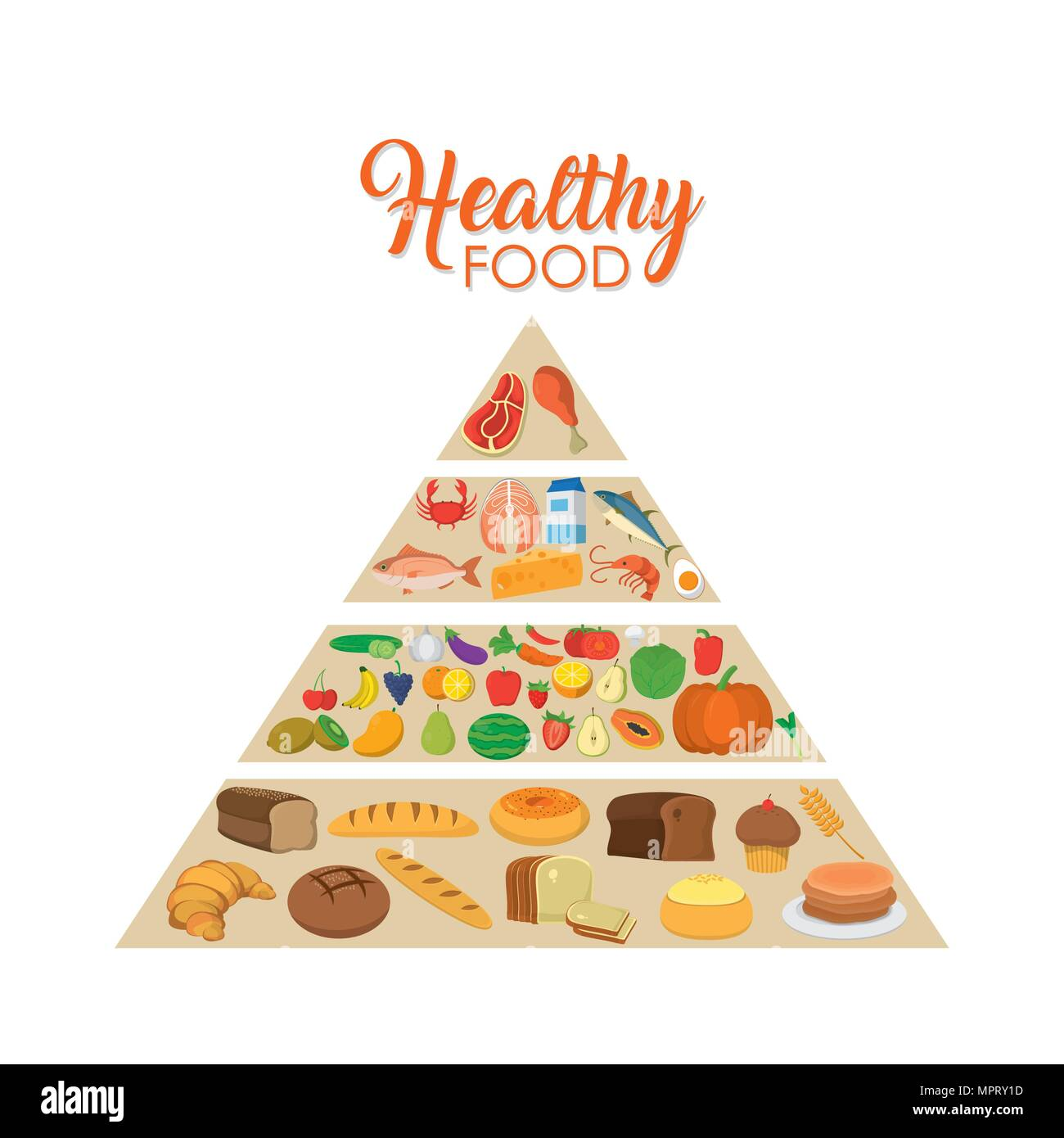 Healthy Food Pyramid Stock Vector Art Amp Illustration