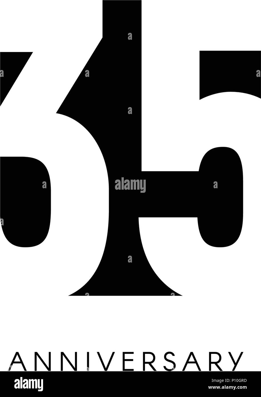 https www alamy com thirty five anniversary minimalistic logo thirty fifth years 35th jubilee greeting card birthday invitation 35 year sign black negative space vector illustration on white background image207152273 html