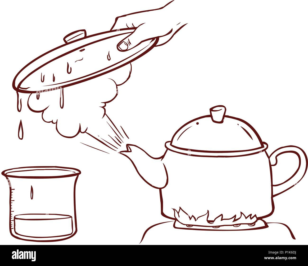 Teapot Clipart Evaporation Water Stock Vector Art
