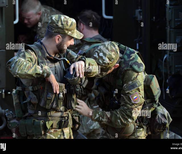 Croatian Armed Forces Soldiers Prepare For Movement Sept 12 2016 As Part Of Exercise Immediate Response 16 Held At The Croatian Armed Forces Training