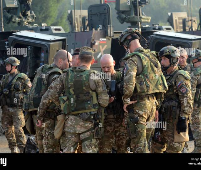 Croatian Armed Forces Soldiers Go Over A Plan Of Action As They Prepare For Movement Sept 12 2016 As Part Of Exercise Immediate Response 16 Held At The
