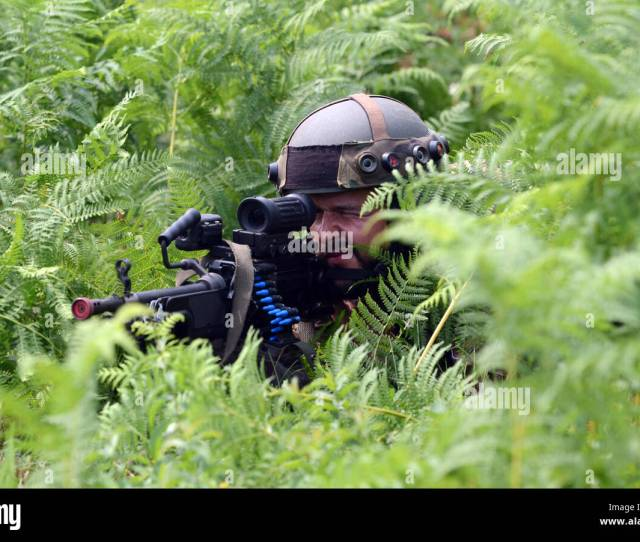 A Soldier From The Slovenian Armys 74th Motorized Battalion Scans The Perimeter Sept 15 2016 During Training As Part Of Exercise Immediate Response 16