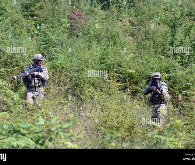 Montenegrin Army Soldiers From The 1st Infantry Unit Montenegro Armed Forces Move To Assault An Objective During Deliberate Attack Drills Sept