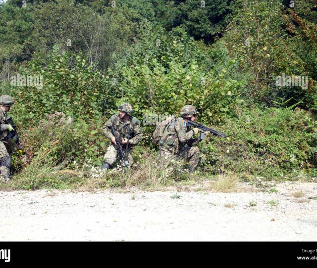 Soldiers From The Armed Forces Of Bosnia And Herzegovina Move To Secure An Objective Sept 15 2016 During Training As Part Of Exercise Immediate
