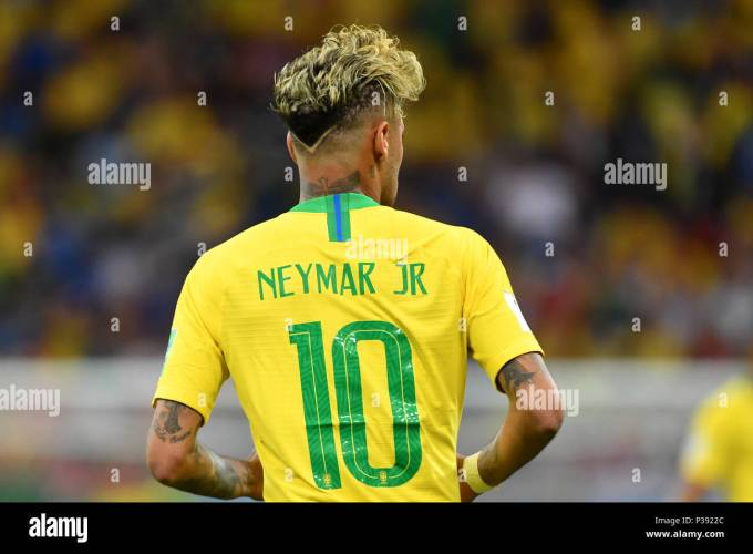 neymar (bra), rear view, back, hairstyle, action, single image