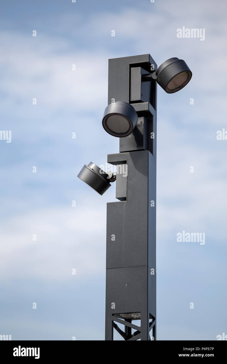 https www alamy com detail of modern lamp post modern outdoor lighting post lights image209317242 html