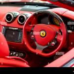 The Interior Of Ferrari California Super Car Stock Photo Alamy