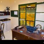 Office With Vintage Desk Chair And Typewriter And Window Overlooking Map Of The Island Of Sicily Malta Inside The Lascaris War Rooms Malta 91 Stock Photo Alamy