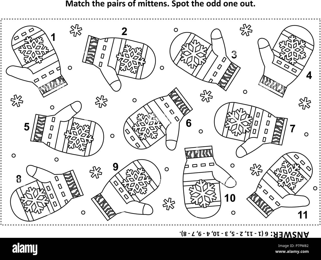 Iq Training Visual Logic Puzzle And Coloring Page With
