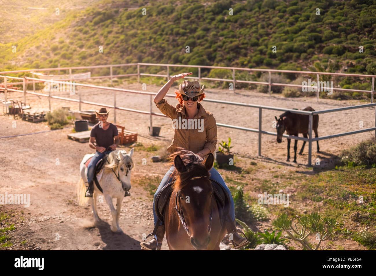 Couple Cowboy Hats Stock Photos Amp Couple Cowboy Hats Stock Images