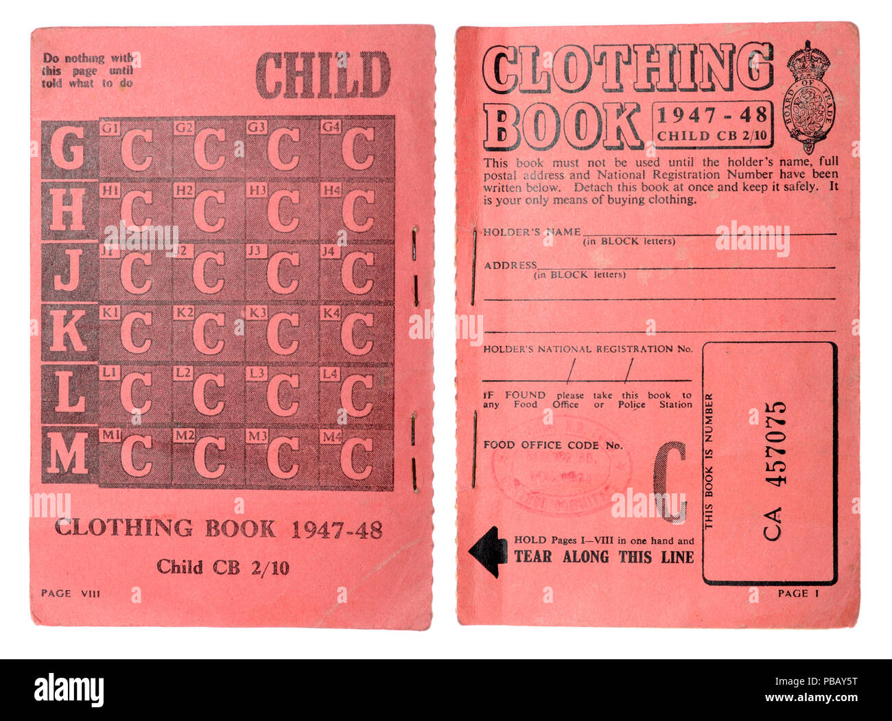 Ration Book Stock Photos Amp Ration Book Stock Images