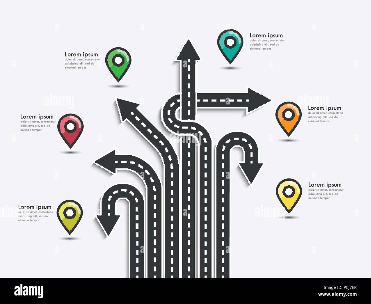 Arrow Road Map Of Business And Journey Infographic Design