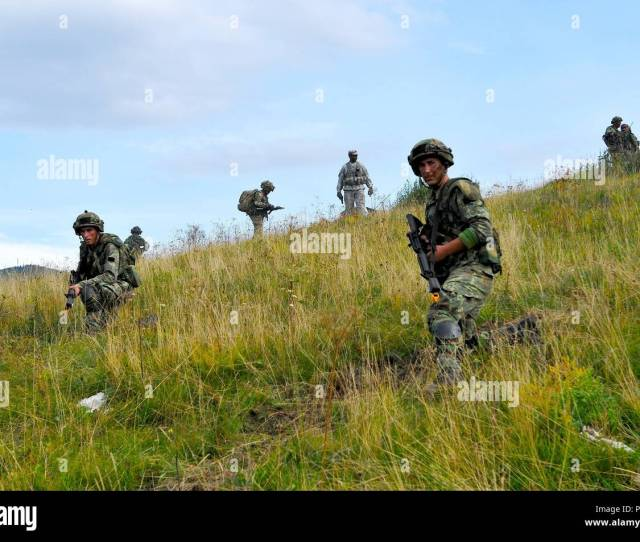 Albanian Soldiers Conduct Training During At Immediate Response  2015 Near Postonja Slovenia Ir 15 Is A Multinational Brigade Level Exercise